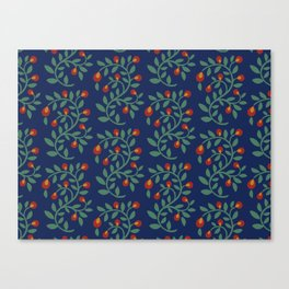 Berry Vine pattern Canvas Print