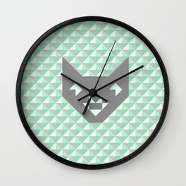 Geometric Cat #society6 #decor #buyart #artprint Wall Clock