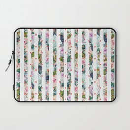 Shabby Roses Chic Stripes & Dots Watercolor Floral Laptop Sleeve