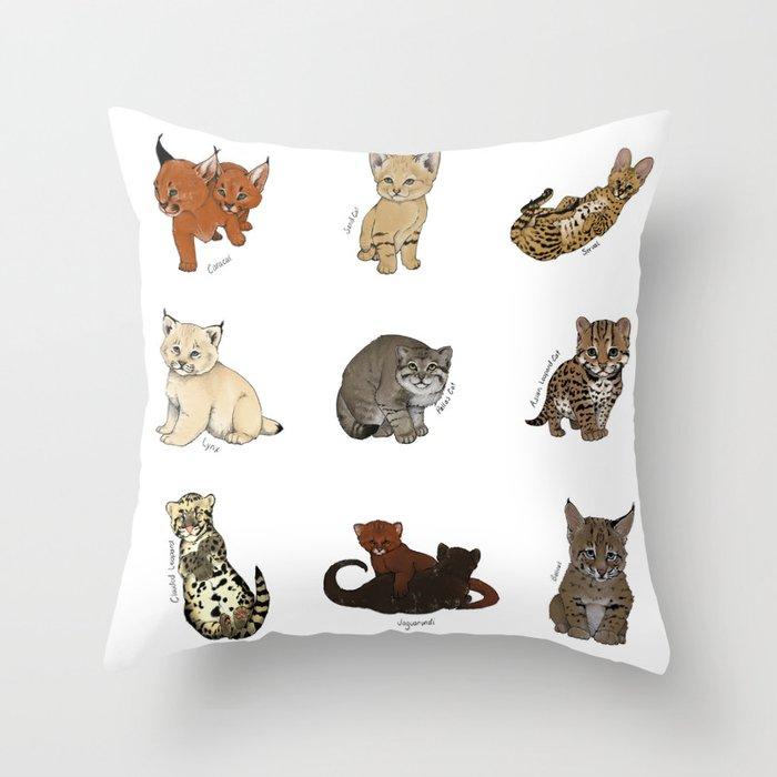 Kittens Worldwide Throw Pillow