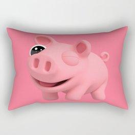 Rosa the Pig Winks Rectangular Pillow