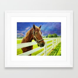 Hello From the Bluegrass State Framed Art Print