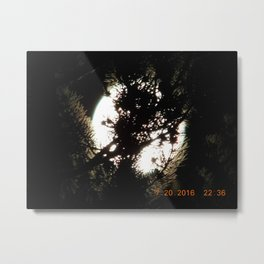 road trip, moon thru the trees, detail, moon, night, #2 Metal Print
