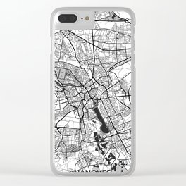 Hanover Map Gray Clear iPhone Case