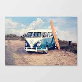 Vintage Beach Bus Canvas Print