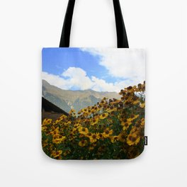 Daisies and Alps Tote Bag