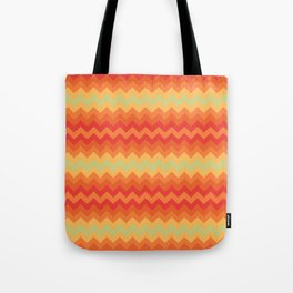 Fizzy Orange Chevrons Tote Bag