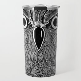 Ornate Owl Zentangle Travel Mug