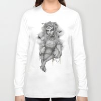 raven Long Sleeve T-shirts featuring Raven by Zan Von Zed