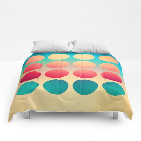 Summer at the beach Comforters