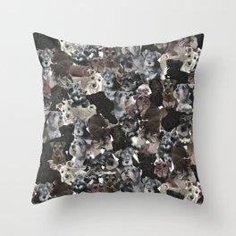 Schnauzer Collage Realistic Throw Pillow