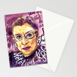 Watercolor Notorious RBG Stationery Cards