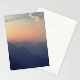 Misty Mountain Sunrise - Swiss Alps Stationery Cards