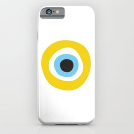 Yellow Evil Eye Symbol Health Protection iPhone Case