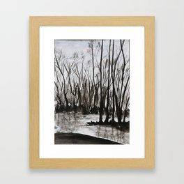 Brent skog - Gerlinde Streit Framed Art Print