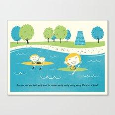 Row Row Row Canvas Print