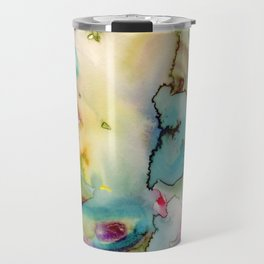 green absstract Travel Mug