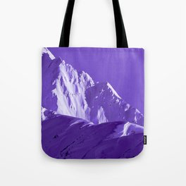 Alaskan Mts. I, Bathed in Purple Tote Bag
