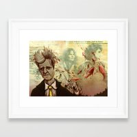 lynch Framed Art Prints featuring Lynch by Davel F. Hamue