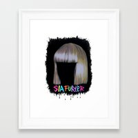 amy sia Framed Art Prints featuring SIA by Melina Espinoza
