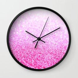 Pink Lavender Sparkle Glitter Wall Clock