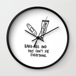 band-aids and poly Wall Clock