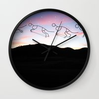cycle Wall Clocks featuring Cycle by Renaissance Youth