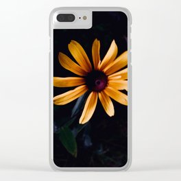 A Blackeyed Susie Flower Clear iPhone Case