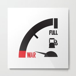 Just a mile away from war Metal Print
