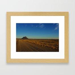 Gravel road to Factory Butte, Utah Framed Art Print
