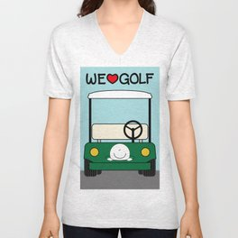 WE♥GOLF Unisex V-Neck