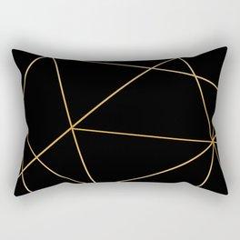 Geometric black gold Rectangular Pillow
