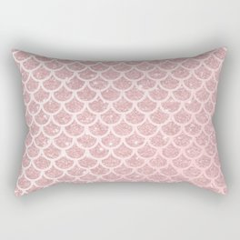 Blush Mermaid Glitter Rectangular Pillow