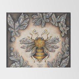 Crystal bumblebee Throw Blanket