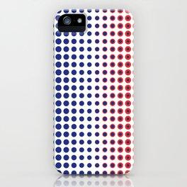 Bleu Blanc Rouge - Pattern - Living Hell iPhone Case