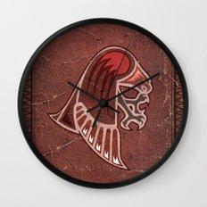 Aboriginal Hawk Attack Wall Clock