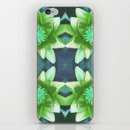 Teal Green Bromeliad Pattern iPhone Skin