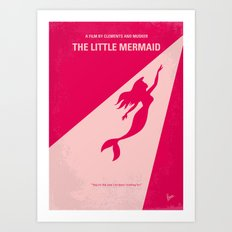 No314 My Mermaid minimal movie poster Art Print