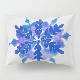 WATERCOLOR SNOWFLAKE 4 - blue and purple palette Pillow Sham