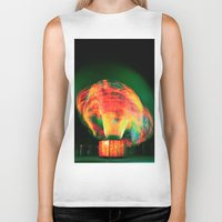 lights Biker Tanks featuring Lights by Teodora Roşca