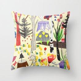 Magic Wood Throw Pillow