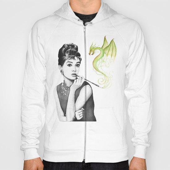 Audrey Hepburn and Her Dragon Hoody
