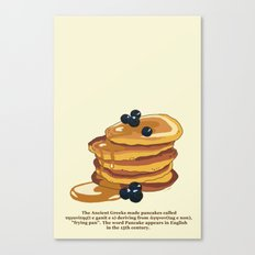 Fluffy Pancakes Canvas Print