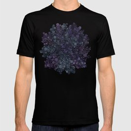 3d Psychedelic Violet and Teal T-shirt