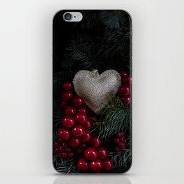 Heart in Christmas. iPhone Skin