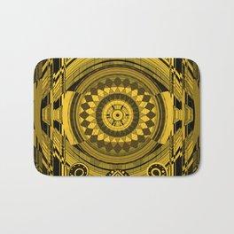 Yellow Sunflower Card Deck Cover Bath Mat