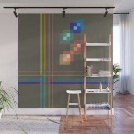 Squares and Lines Wall Mural