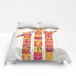 Giraffes – Fiery Palette Comforters