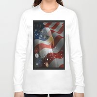 patriotic Long Sleeve T-shirts featuring Patriotic America by D.A.S.E. 3