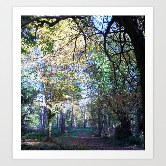 A Bright and Chilly Stroll. Art Print